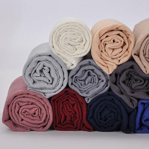 Muslim Women Cotton Wrap Head Scarf Arab Turban Headwrap