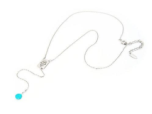 Turquoise Hamsa Rosary Necklace