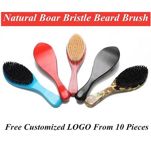 7 Colors Natural Boar Bristle Beard Brush