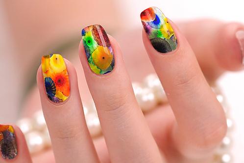 Watercolor Nail Wraps