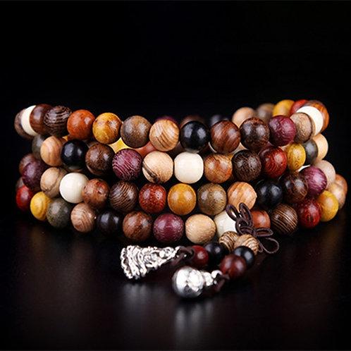108pcs Variety of Sandalwood Prayer Beads Bracelets Mala