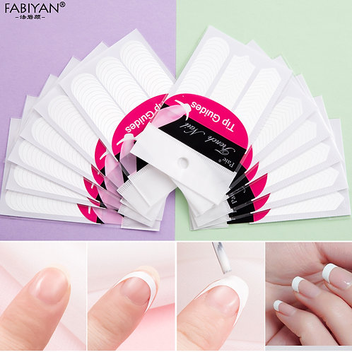 Lot 10 Packs Form Guide Stickers Tips Design Decal French Manicure