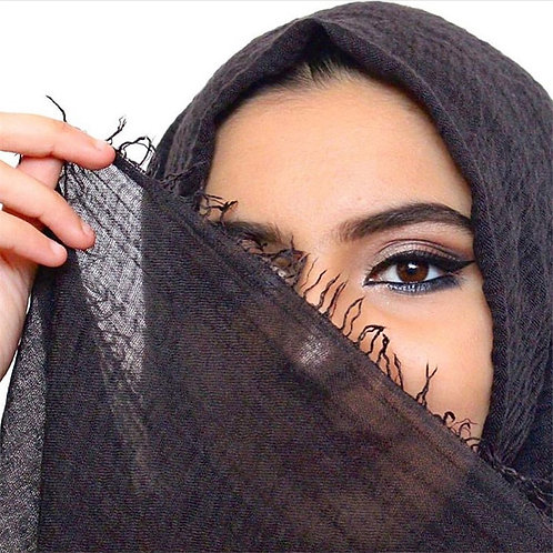 Women Muslim Gauze Hijab Soft Cotton Headscarf Islamic