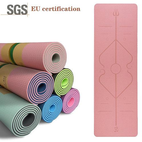 TPE Yoga Carpet Mat With Position Line for Beginner