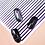 Thumbnail: 1 Piece Rose Gold Silver 3D Nail Sticker Curve Stripe