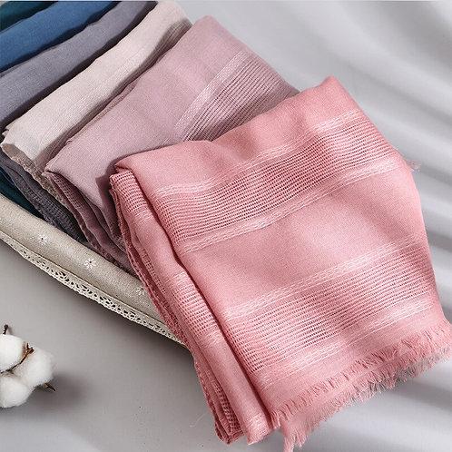 Winter Cotton Hijab Scarves Shawls and Wraps Lady Pashmina