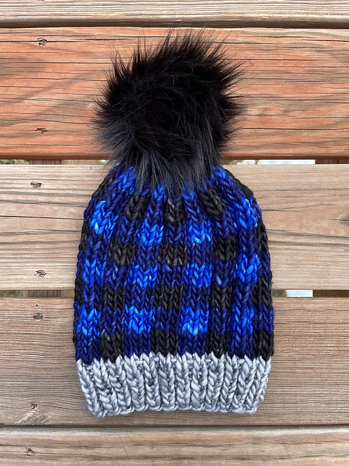 Blue Buffalo Plaid Hat Kit