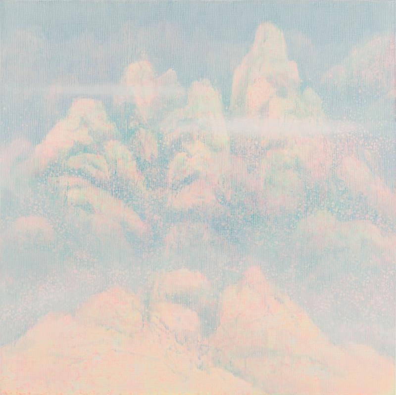 New Scenery in Dream (14-30) Canvas on Acrylic,Gel 130x130cm 2014