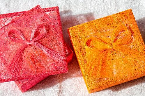 raffia gift box