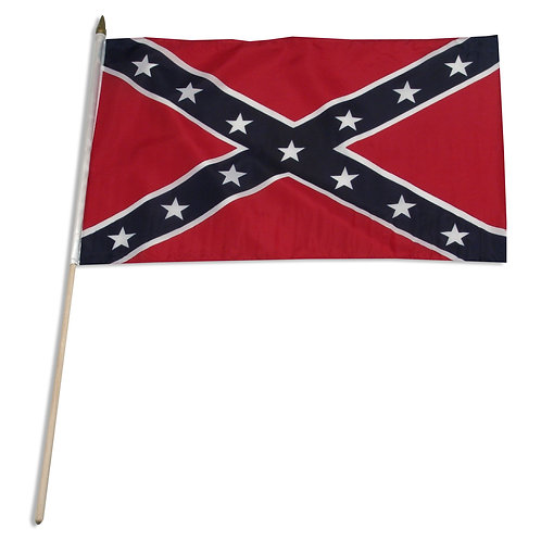 "12"" x 18""Confederate Flag on stick"
