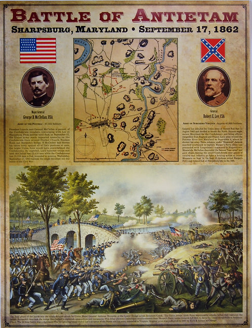 Battle of Antietam parchment poster