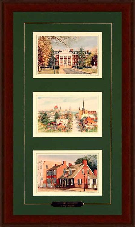 Triple. Hood College, Church St, Barbara Fritchie