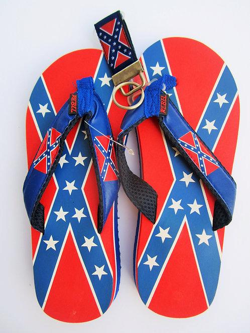 Flip-flops, blue strap