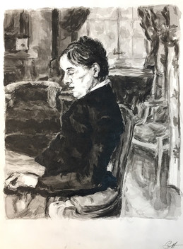 Ink Study After Toulouse-Lautrec