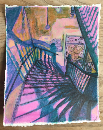 Leipzig stairs study