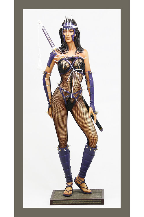 Hajime Sorayama lady Ninja (Black), Limited Edition of 100