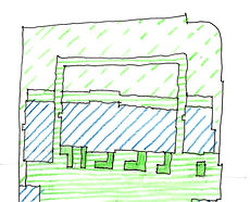 LHLA sketch showing sustainable drainage Bidborough