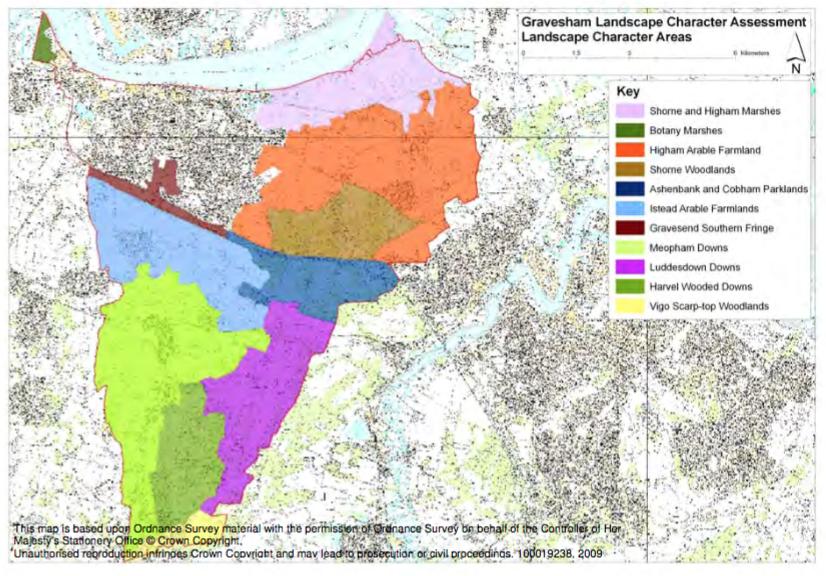 Gravesham Borough Landscape Character Areas 1