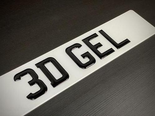 3D Gel Resin Number Plates