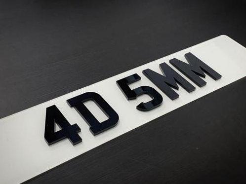 4D Laser Cut Number Plates