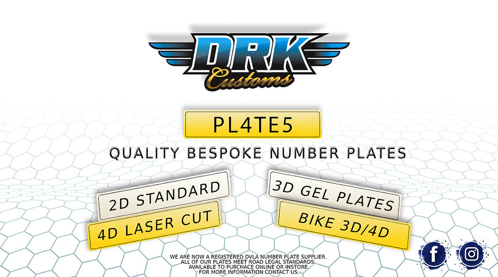 3D 4D Number plates Coventry