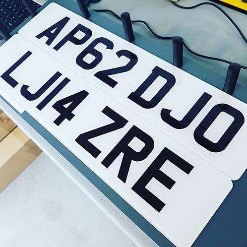 2D Standard  Number Plates