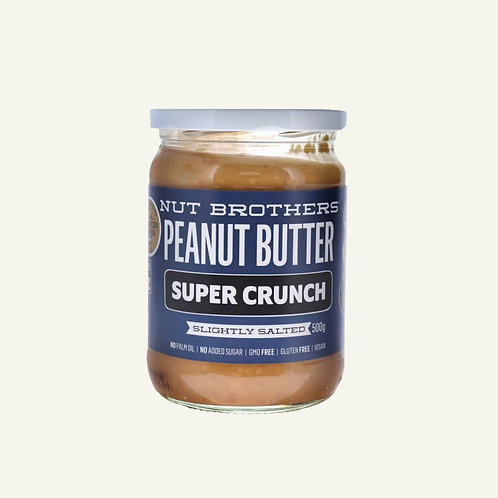 Nut Brothers Peanut Butter -  Super Crunch 500g