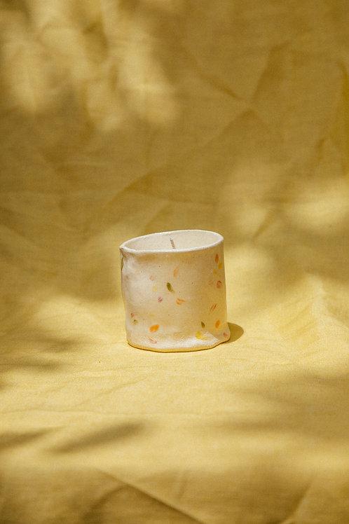 Handmade Ceramic Mid Tumbler Candle