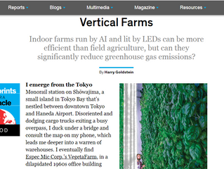 """Media : IEEE """"The Green Promise of Vertical Farms"""""""
