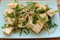 シーアスパラと豆腐の炒め