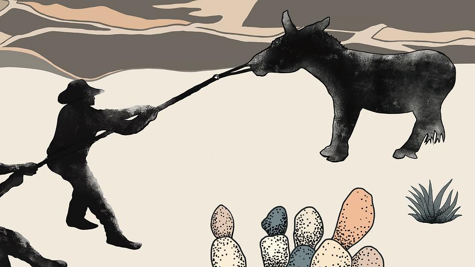 Stubborn as a Mule Print