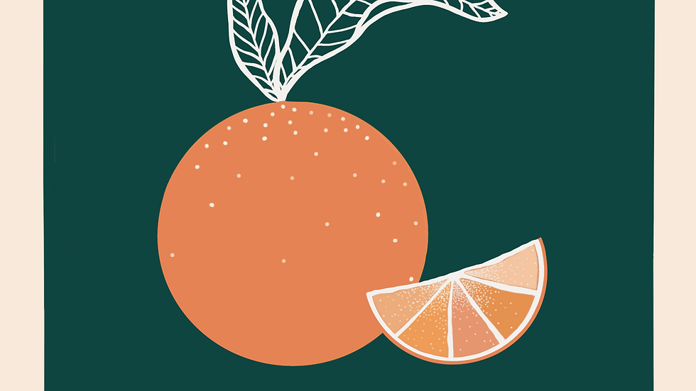 Holiday Stationary Cards - Citrus
