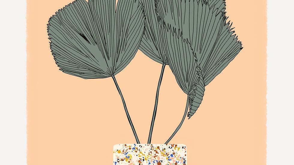 Terrazzo Palm Print