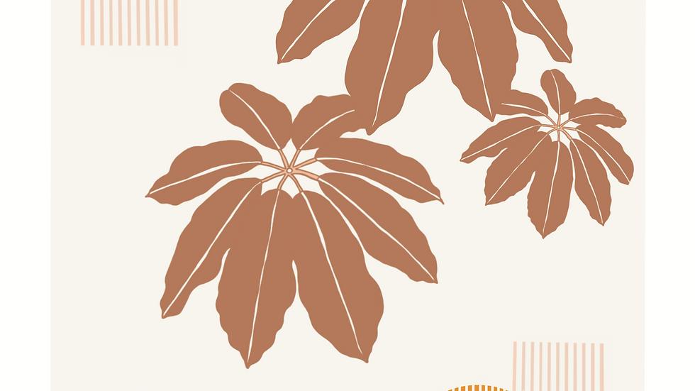 Umbrella Tree Print