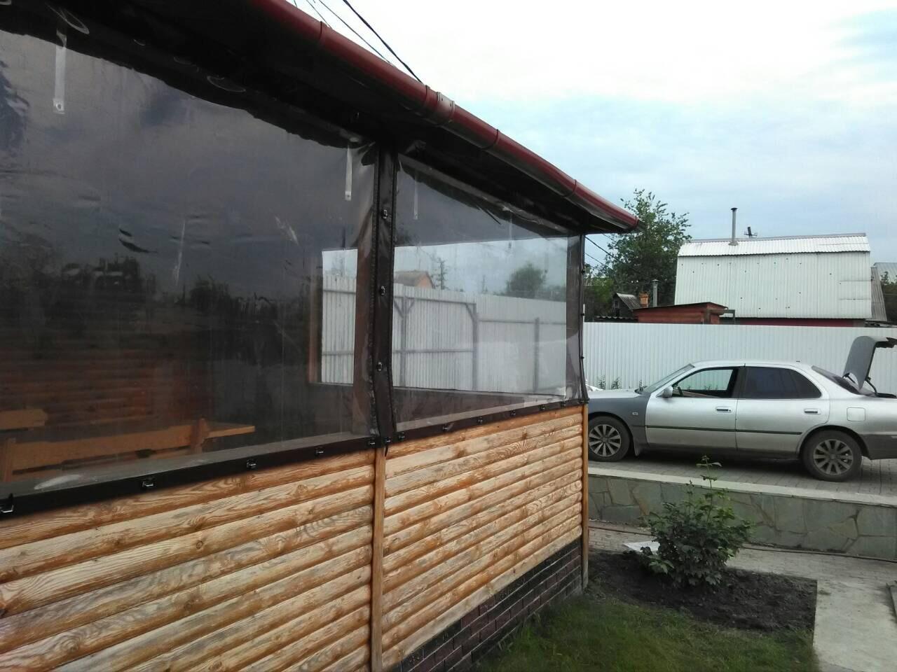 Мягкое окно на ремешках и люверсах
