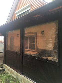 Прозрачное окно в терассу