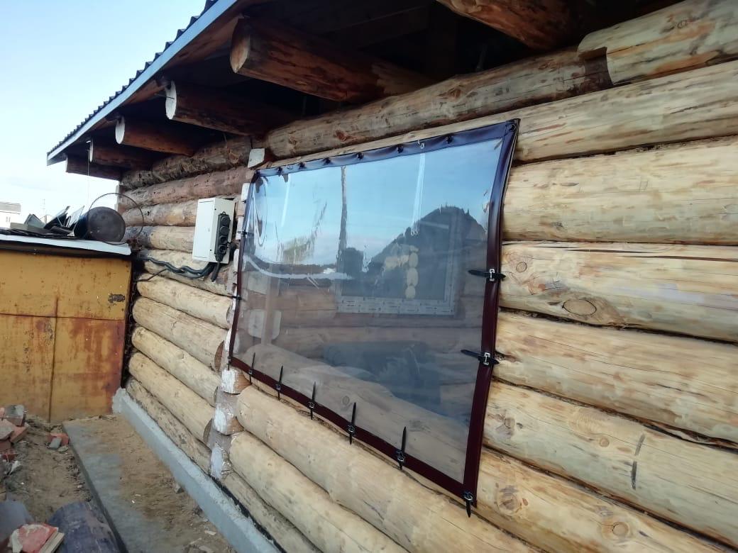 окно из тента
