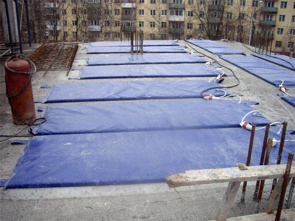 Термомат для прогрева бетона
