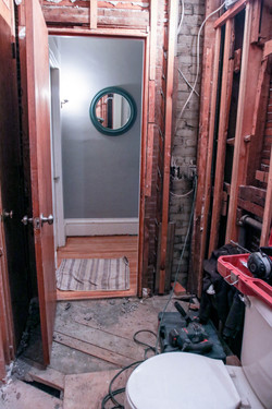 Bathroom Tear-out Door View