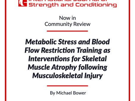 Metabolic Stress and Blood Flow Restriction Training as Interventions for Skeletal Muscle Atrophy