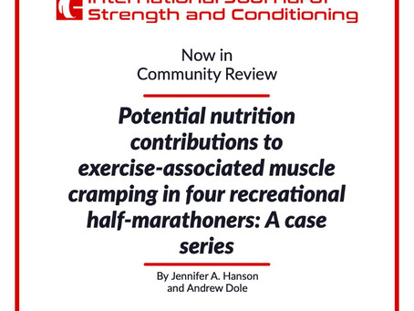 Potential Nutrition Contributions to Exercise-associated Muscle Cramping