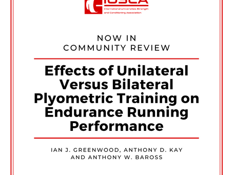 Effects of Unilateral Versus Bilateral Plyometric Training on Endurance Running Performance