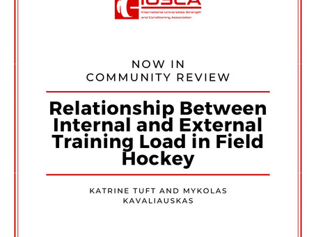 Relationship Between Internal and External Training Load in Field Hockey