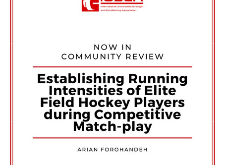 Establishing Running Intensities of Elite Field Hockey Players During Competitive Match-Play
