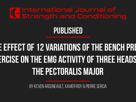 The effect of 12 variations of bench press on the EMG activity of 3 heads of the pectoralis major