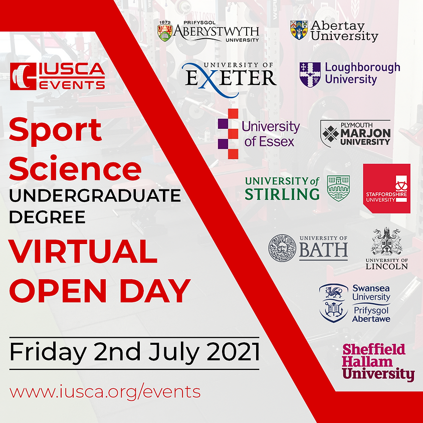 Sport Science Degree Virtual Open Day