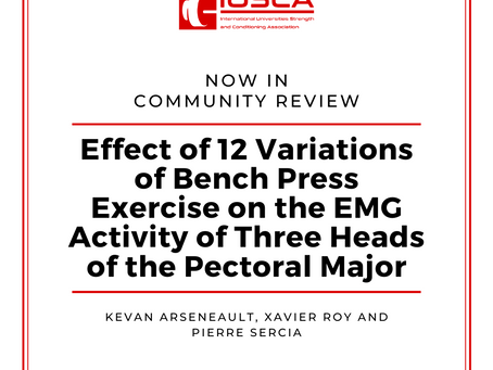 Effect of 12 Variations of Bench Press Exercise on the EMG Activity of Three Heads of the Pec Major