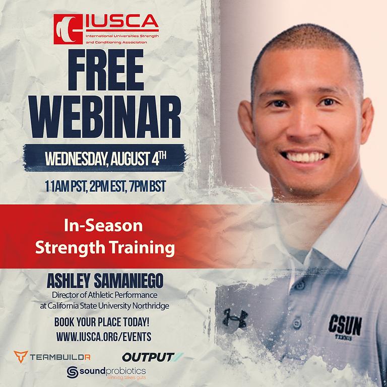 In-Season Strength Training | Ashley Samaniego