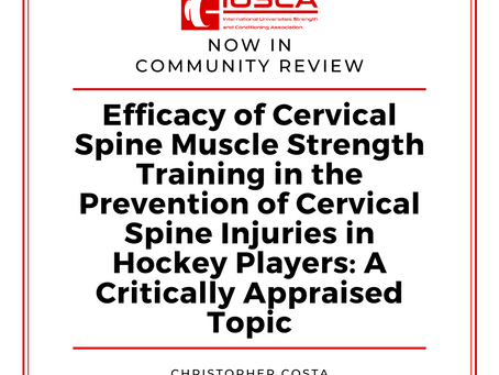Efficacy of Cervical Spine Muscle Strength Training