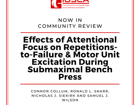 Effects of Attentional Focus on Repetitions-to-Failure and Motor Unit Excitation